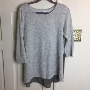 Sweaters - Grey High-Low Sweater